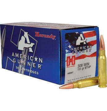 Picture of Hornady Ammunition 308 Win 155 gr BTHP American Gunner® (50rnd Pack) (Horn-80967)