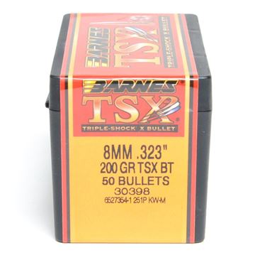 Picture of Barnes Bullets 8mm x 200 TSX BT (50ct) 30398