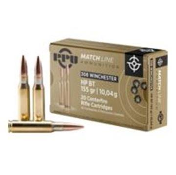 Picture of .308 WIN 155Grn HPBT Match PPU Ammunition (20 Pack) A625