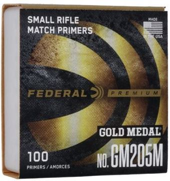 Picture of Federal Small Rifle Gold Medal Match Primer GM205M - 1000ct